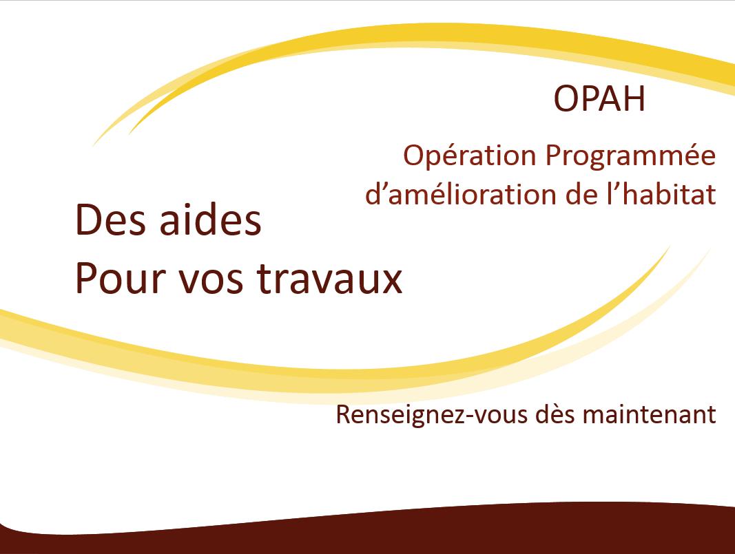 Opération Programmée d'amélioration de l'habitat OPAH