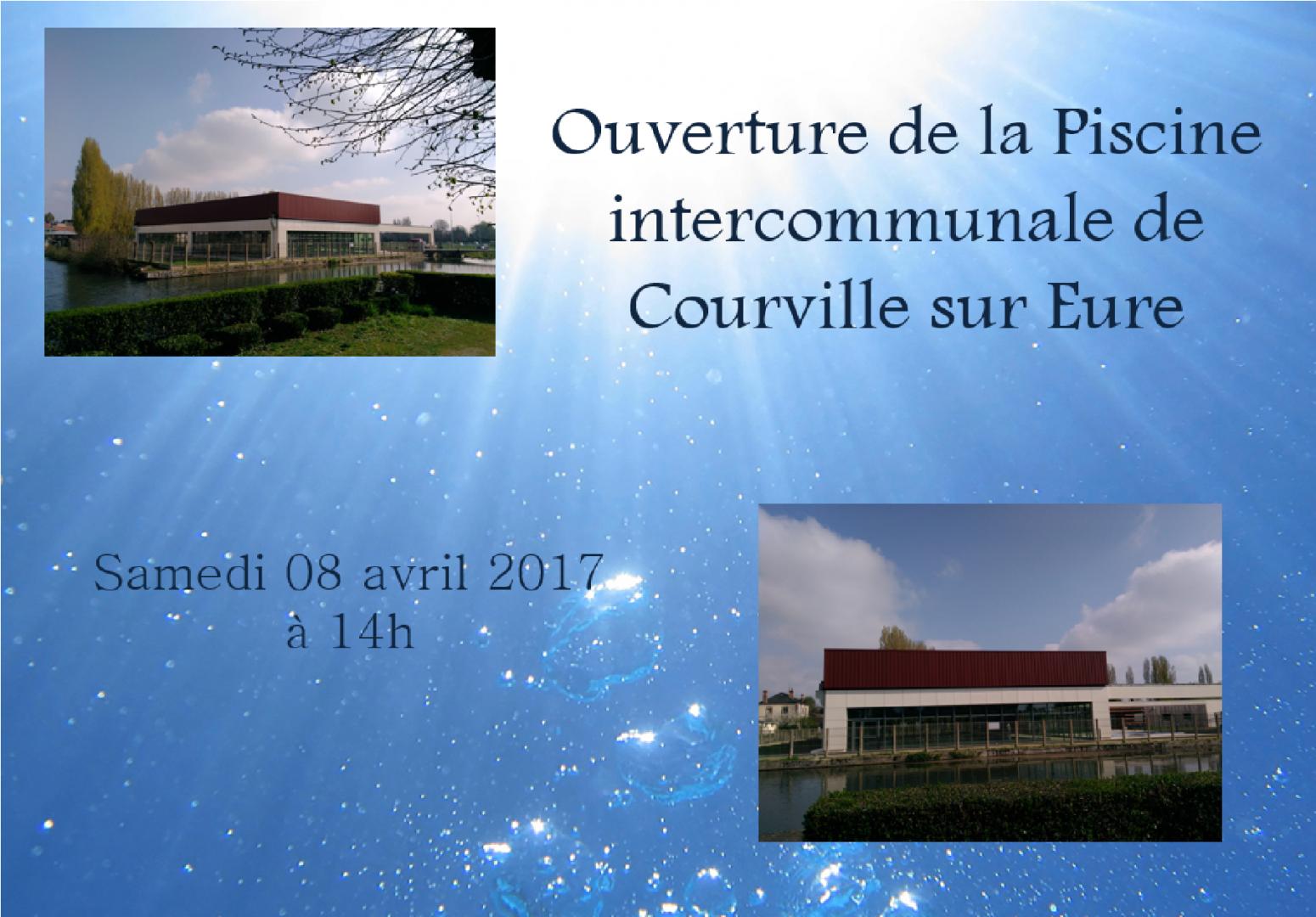 Ouverture de la piscine intercommunale de Courville