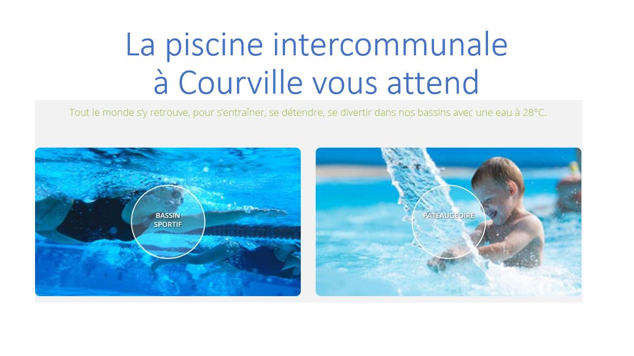 La piscine à Courville sur Eure