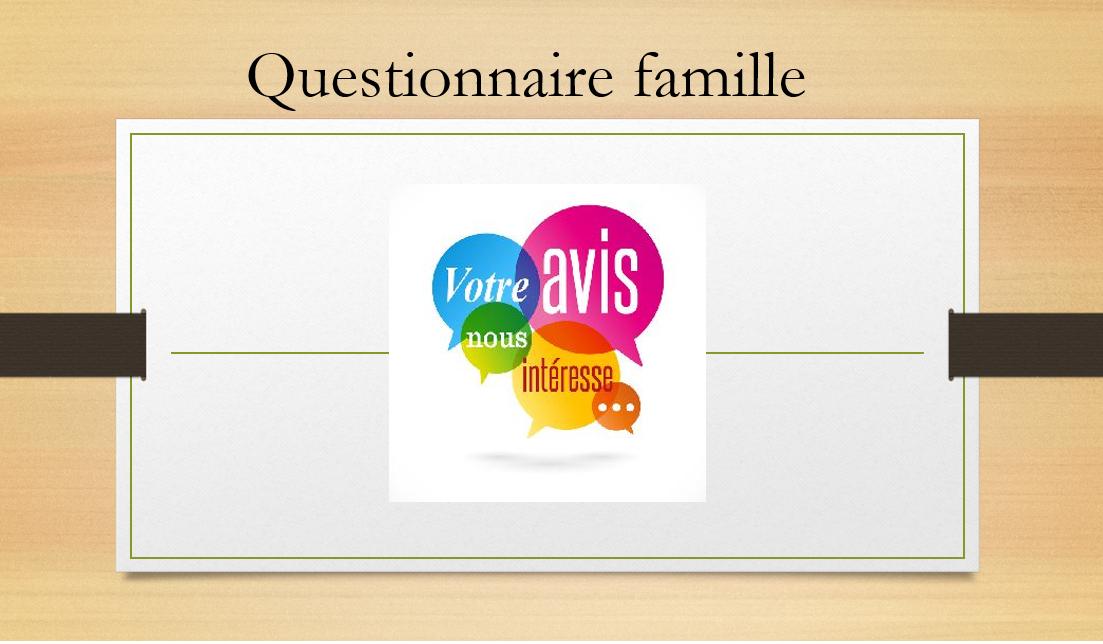 Questionnaire famille