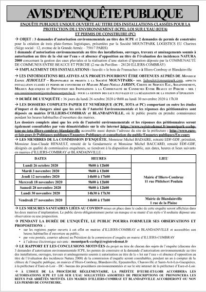 Enquête Publique Unique ICPE/IOTA/PC