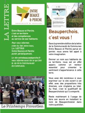 lettre info 2 cdc Entre Beauce et Perche