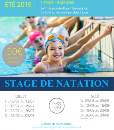 stage piscine Courville été 2019